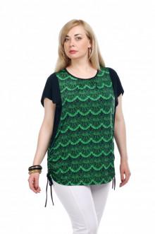 """Блуза """"Олси"""" 1510016 ОЛСИ (Кружево зеленый)"""