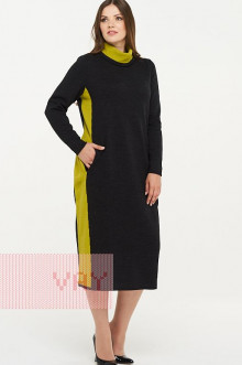 Платье женское 182-2323 Фемина (Темный антрацит/оливка)
