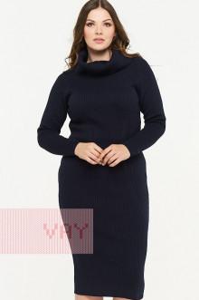 Платье женское 182-2318 Фемина (Темно-синий)
